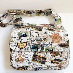 FOSSIL World Traveler Canvas Crossbody Bag